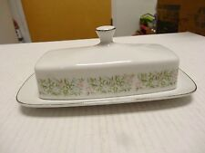 Sterling Taihei~Fine China of Japan Springtime  BUTTER DISH 1/4LB DISH
