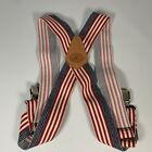 """Duluth Trading Company AmericanFlag 2"""" Side Clip Suspenders Adjustable Patriotic"""