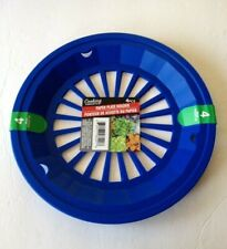 """10"""" Paper Plate Holders Royal Blue Picnic Camping Bbq Patio Set of 4 Cookout Sum"""