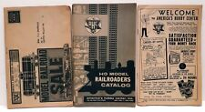 America's Hobby Center Catalogs Lot of 3 Model Railroad 1961 1965