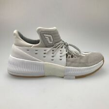 Adidas Mens Dame 3 Basketball Shoes White BW0323 Lace Up Low Top Sneakers 12.5 M