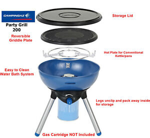 Campingaz Gas Party Grill 200 Portable BBQ/Stove - easy Clean - 2020 Stock
