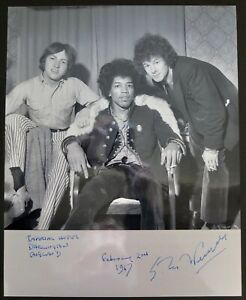 Jimi Hendrix Experience 1967 Imperial Hotel Photograph By Ian Wright - Signed