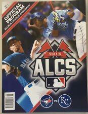 2015 ALCS PROGRAM MLB KANSAS CITY ROYALS TORONTO BLUE JAYS GORDON BACK 7238 A
