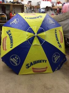 Original New Sabrett Hot Dog Umbrella