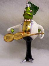 Slavic Treasures Glass Ornament - Strummin' Croaker (frog)
