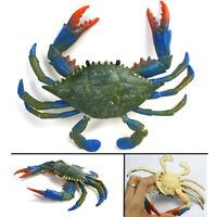 Blue Crab Realistic Sea Animal Model Solid Plastic Figure Ocean Kid Toy Gift
