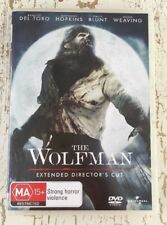 THE WOLFMAN (DVD R4 2009) Benicio Del Toro Anthony Hopkins VGC HORROR EXT D-CUT