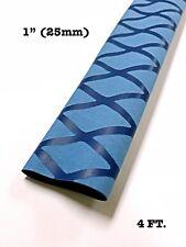 "4 Ft. Blue 1"" 25mm 2:1 Ratio Heat Shrink Sleeve Wrap Tubing Rod handle Cork"