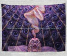 heppy home decor psychedelic trippy fractal hippie tapestry cloth poster