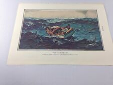 Vintage Print ~ The Gulf Stream ~ Homer ~ from 1934 Encyclopedia ~ Ships FREE!