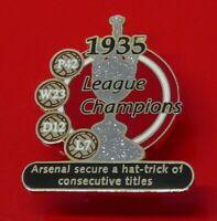 Danbury Enamel Pin Badge Football Arsenal Football Club League Champions 1935