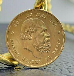 1875 Netherlands 10 Guilder Gold Coin
