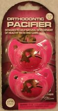 2 NEW Girls REALTREE Camo & Hot Pink Orthodonic Pacifiers! 0-6M BPA Free Cute FS