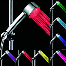 New LED BATHROOM SHOWER HEAD WATER HOME GLOW AUTOMATIC 7 COLOUR CHANGING UK