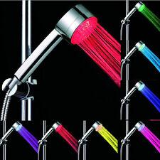 Nuevo LED Cuarto de Baño Ducha Cabeza De Agua Casa resplandor automático 7 Cambio de Color Reino Unido