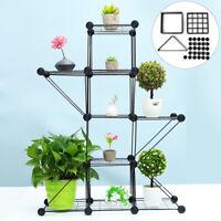 5 Tier DIY Shelves Flower Pot Plant Stand Display Indoor Outdoor Garden