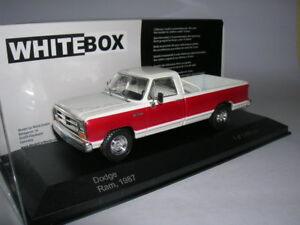 Dodge RAM Pick-Up 1987 Rouge et Blanc  1/43 WhiteBox  Neuf boite WB180