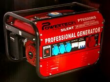 Powertech Benzin Stromgenerator Stromerzeuger Notstromaggregate Generator