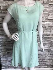 Reiss Women Summer DRESS/ 100% Silk/Mint Green / Size: 12
