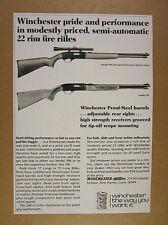 1973 Winchester Model 190 & 290 22 .22 rim fire Rifles vintage print Ad