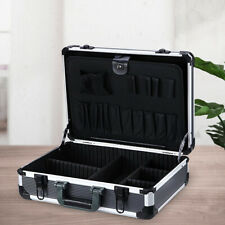 Aluminum Hard Tool Case Storage Car Home Toolbox with Shoulder Strap Dividers