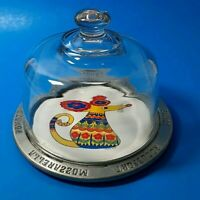 FrankHam Cheese Plate Tray Colorful Mouse Ceramic Pewter Trivet Cheese Names