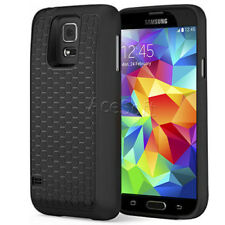 TPU Extended Battery HoneyComb Black TPU Backup Case Cover for Samsung Galaxy S5