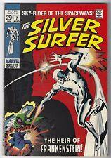 SILVER SURFER #7, MARVEL 1969, VF CONDITION, THE HEIR OF FRANKENSTEIN!!