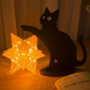 Cute Cat Night Light USB Rechargeable Home Bedroom Bedside Lamp Gifts