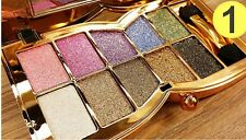 10 Colors Shimmer Diamond Eye Shadow Palette Waterproof Beauty Make Up UK 1.