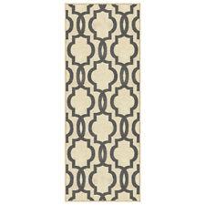 Custom Size Stair Hallway Runner Rug Non Slip Rubber Back Ivory Moroccan Trellis