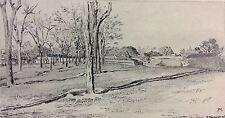 Ernest Meissonier étude de paysage gravé par Toussaint 1893 engraving