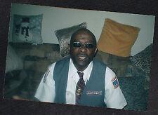 Photograph African American Man Sunglasses & Uniform Atlantic Express Bus Driver