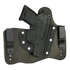 FoxX Leather & Kydex IWB Hybrid Holster CZ 2075 Rami Black Right draw Tuckable
