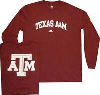 Texas A&M Aggies Adidas Long Sleeve Relentless T Shirt Clearance