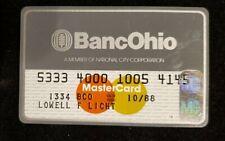 BancOhio MasterCard credit card exp 1988♡Free Shipping♡cc619♡