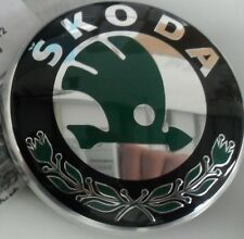 Skoda Yeti Tailgate Badge Original  Green Black Chrome  5L0853621MEL