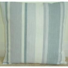 "16"" Cushion Cover Laura Ashley Awning Stripe Slate Grey"