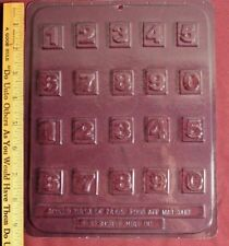 COLLEGIATE NUMBER #1  Chocolate Mold Age Birthday Date One