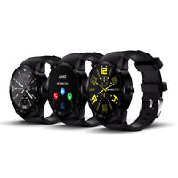 SmartWatch & Phone Android by Indigi 1.3-inch HD - DualCore CPU - WiFi - GPS ,Bl