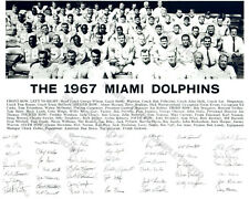 1967 MIAMI DOLPHINS 2ND SEASON 8X10 TEAM PHOTO GRIESE ROOKIE