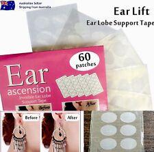 Ear Lobe Lift Earring Back Support NOStrain Tear Pain Patch Tape Sticker 60x KIT