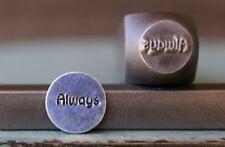 "SUPPLY GUY 9mm ""Always"" Word Metal Punch Design Stamp SGCH-93"