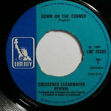 """CREEDENCE CLEARWATER Down Corner b/w Fortunate Son 7"""" 45rpm Vinyl VG+ UK Liberty"""