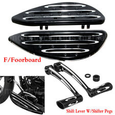 CNC Cut Front Floorboard Toe Heel Shift Lever W Pegs For Harley Touring Softail