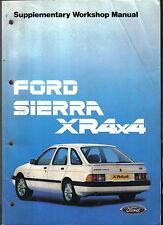 Ford Sierra XR 4x4 original Supplementary Workshop Manual 1985 CG 533/EN