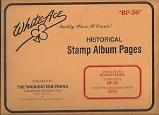 White Ace U.S.Booklet Panes Supplement BP-36 for 2015