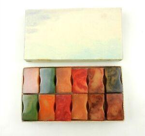 12 Vtg Bakelite Pencil Sharpeners Marbled Orange, Green Hourglass ~NIB~ T170:37