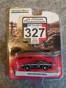 1/64 Scale 1974 Datsun 260Z La Carrera Panamerica rally edition.Greenlight,